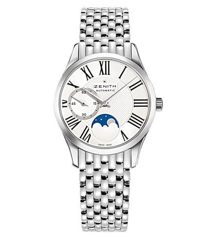 Zenith 03.2310.692/02.m2310 Elite Lady Moonphase stainless steel watch