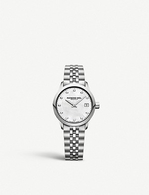 RAYMOND WEIL 5626ST97081 Freelancer stainless steel and diamond watch