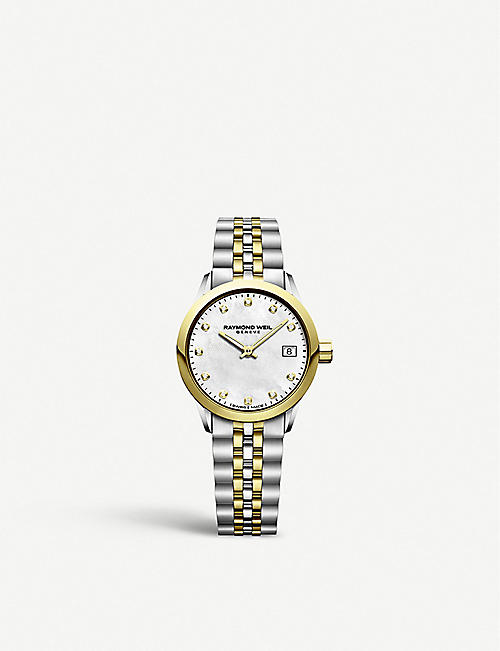 RAYMOND WEIL: 5626ST97081 Freelancer two-tone stainless steel and diamond watch