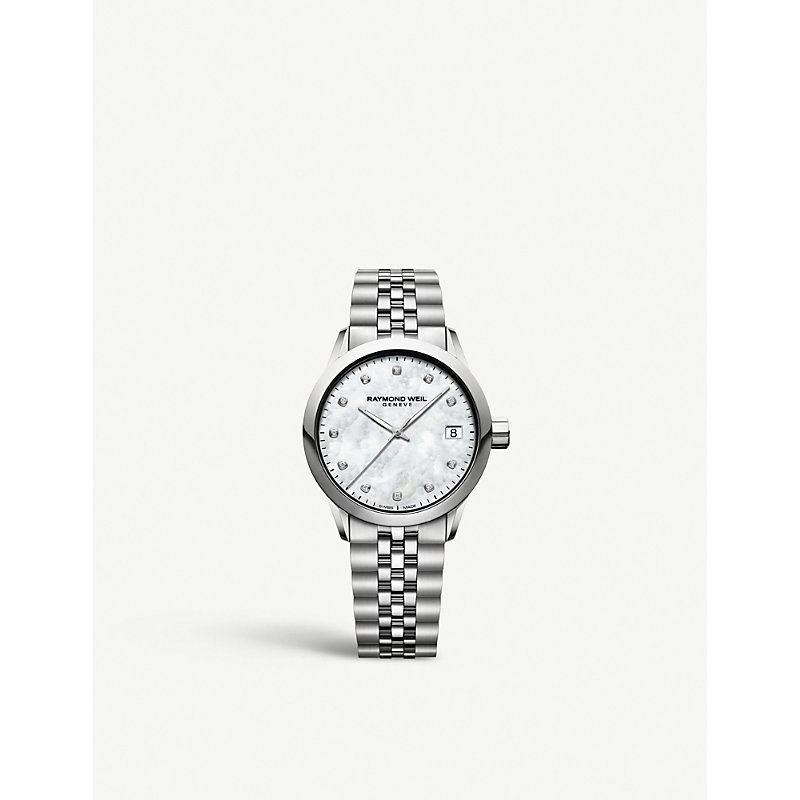 RAYMOND WEIL 5634St97081 Freelancer Stainless Steel And Diamond Watch in White/Silver