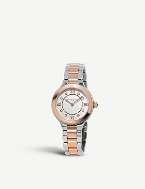 FREDERIQUE CONSTANT FC-281WHD3ER2B Classics Delight rose-gold, 0.04ct diamond and stainless-steel quartz watch