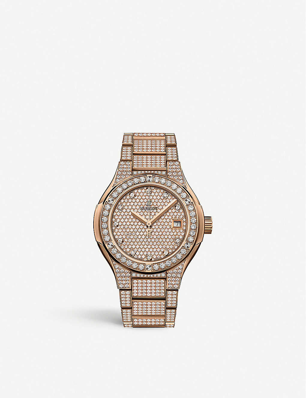 HUBLOT: 585.OX.9000.OX.3604 Classic Fusion 18ct rose-gold and diamond watch