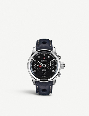 BREMONT BJ-II/BK Jaguar MKII chronograph steel and leather watch