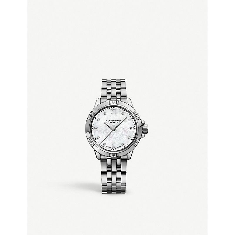 RAYMOND WEIL 5960-St-00995 Tango Stainless Steel And Diamond Watch in Silver