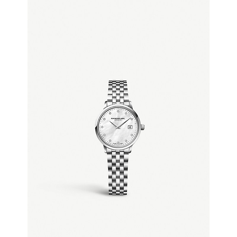 RAYMOND WEIL 5988-St-97081 Toccata Stainless Steel Diamond-Studded Watch in Silver