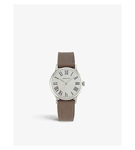 Zenith 03.2310.679/38.C714 Elite Classic Lady stainless steel and leather watch