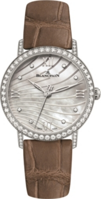 BLANCPAIN 6104465455A stainless steel and diamond watch