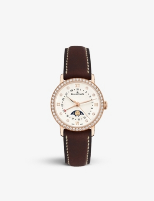 BLANCPAIN 6106298755A 18ct rose gold and diamond watch