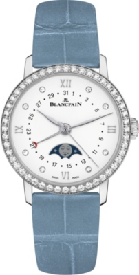 BLANCPAIN 6106462855A stainless steel and diamond watch
