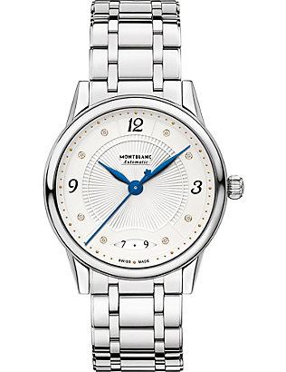 MONTBLANC: 114733 Boheme diamond and stainless steel watch