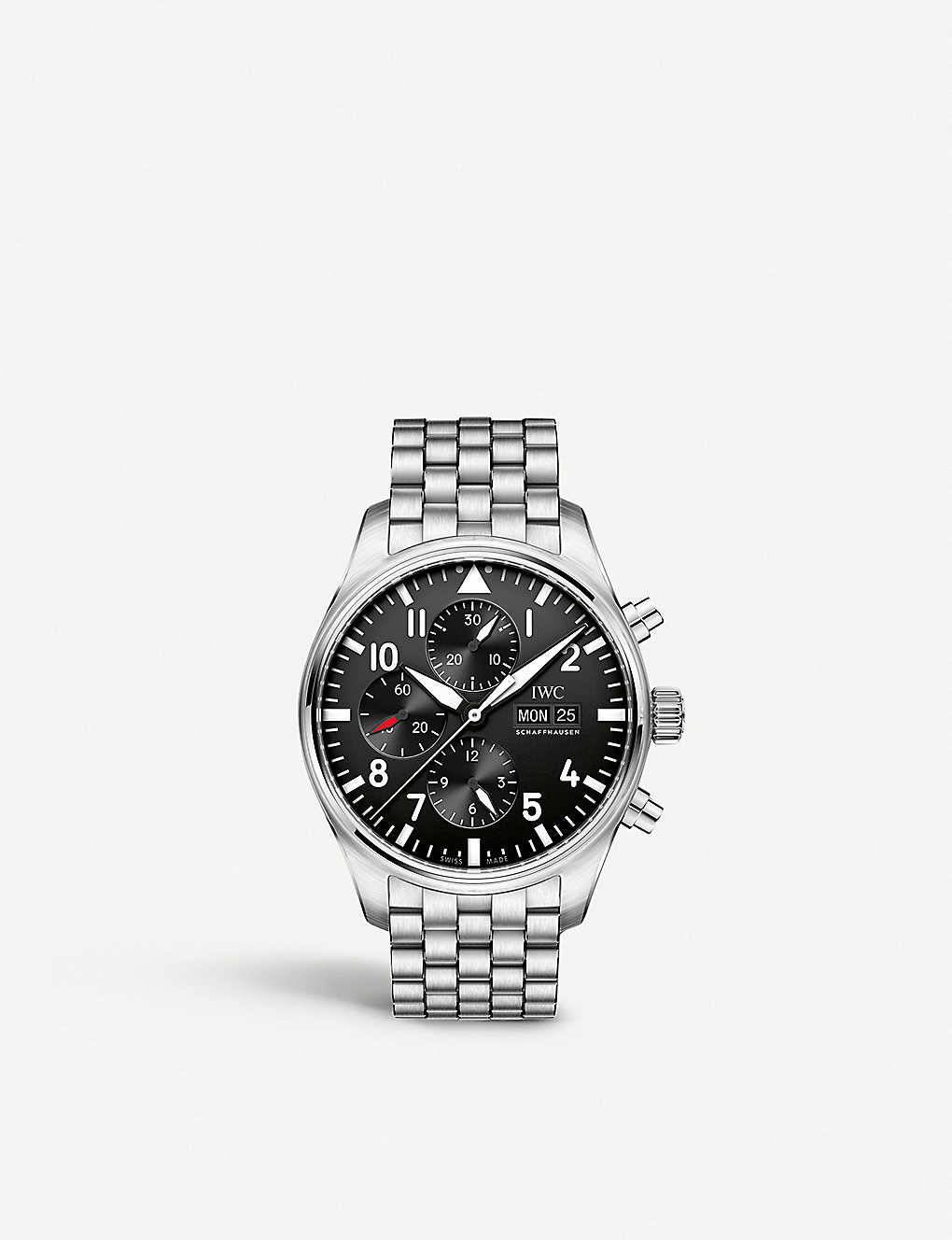 IWC SCHAFFHAUSEN: IW377710 Pilot's stainless steel watch