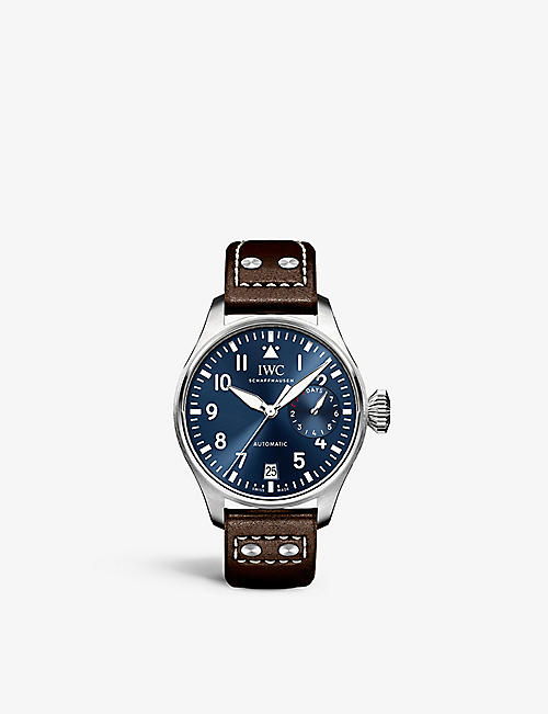 IWC SCHAFFHAUSEN: IW500916 Pilot leather and stainless steel watch