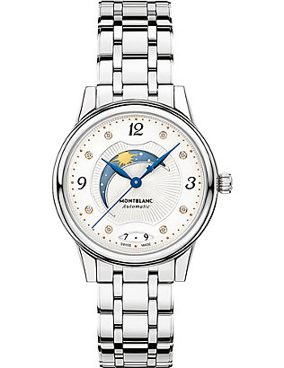MONTBLANC: 114731 Bohème Day & Night stainless steel gold and diamond watch