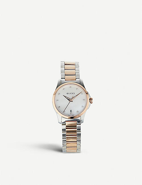 09efcab55e8 GUCCI YA126544 G Timeless mother-of-pearl watch