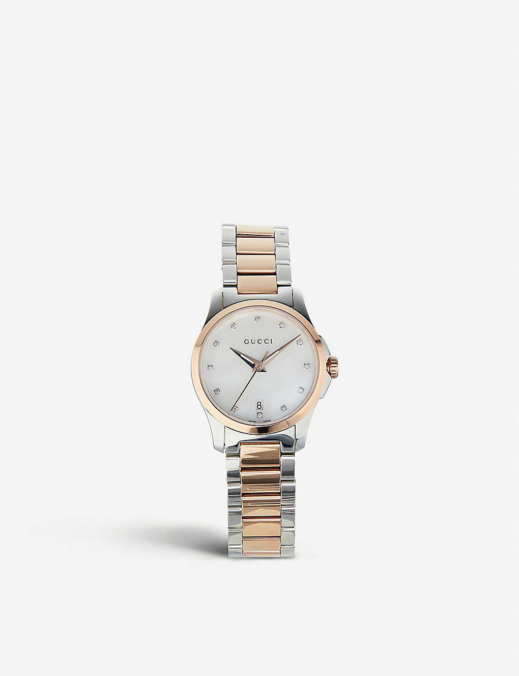 d8749686428 GUCCI - YA126544 G Timeless mother-of-pearl watch