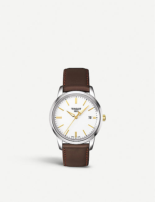 cb679eb92d3 TISSOT T033.410.26.011.01 Classic dream stainless steel and leather watch