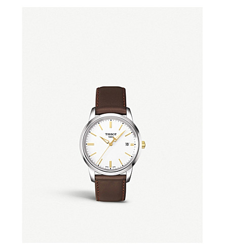 Tissot T033.410.26.011.01 Classic dream stainless steel and leather watch