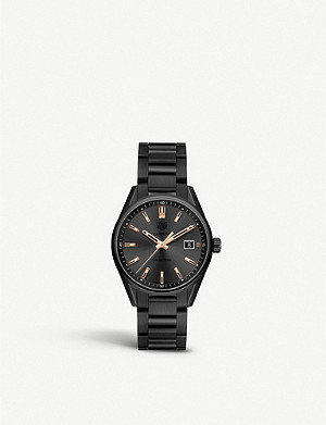 TAG HEUER WAR1113.BA0602 Carrera rose gold-plated and titanium watch
