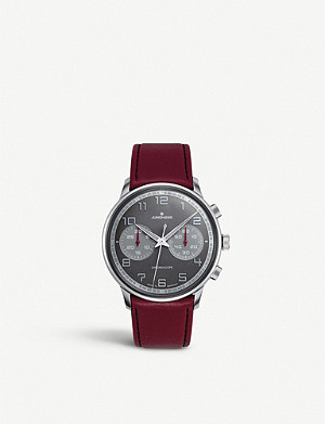 JUNGHANS 027/3685.00 Meister Driver stainless steel and leather chronoscope watch