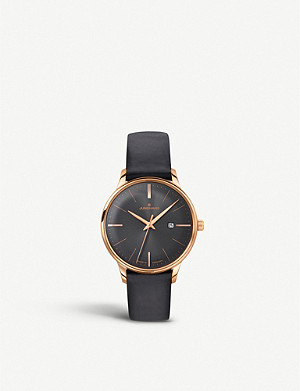 JUNGHANS 047/7572.00 Meister Damen rose gold-plated and leather watch