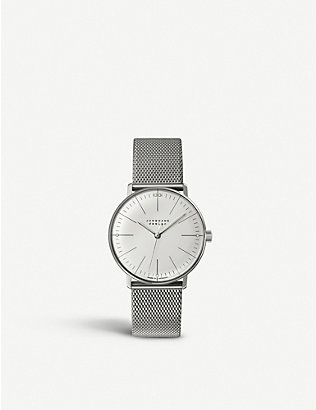 JUNGHANS: 047/4250.44 Max Bill stainless steel watch