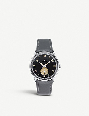 JUNGHANS 027/3607.00 Max Bill Handaufzug stainless steel and leather watch