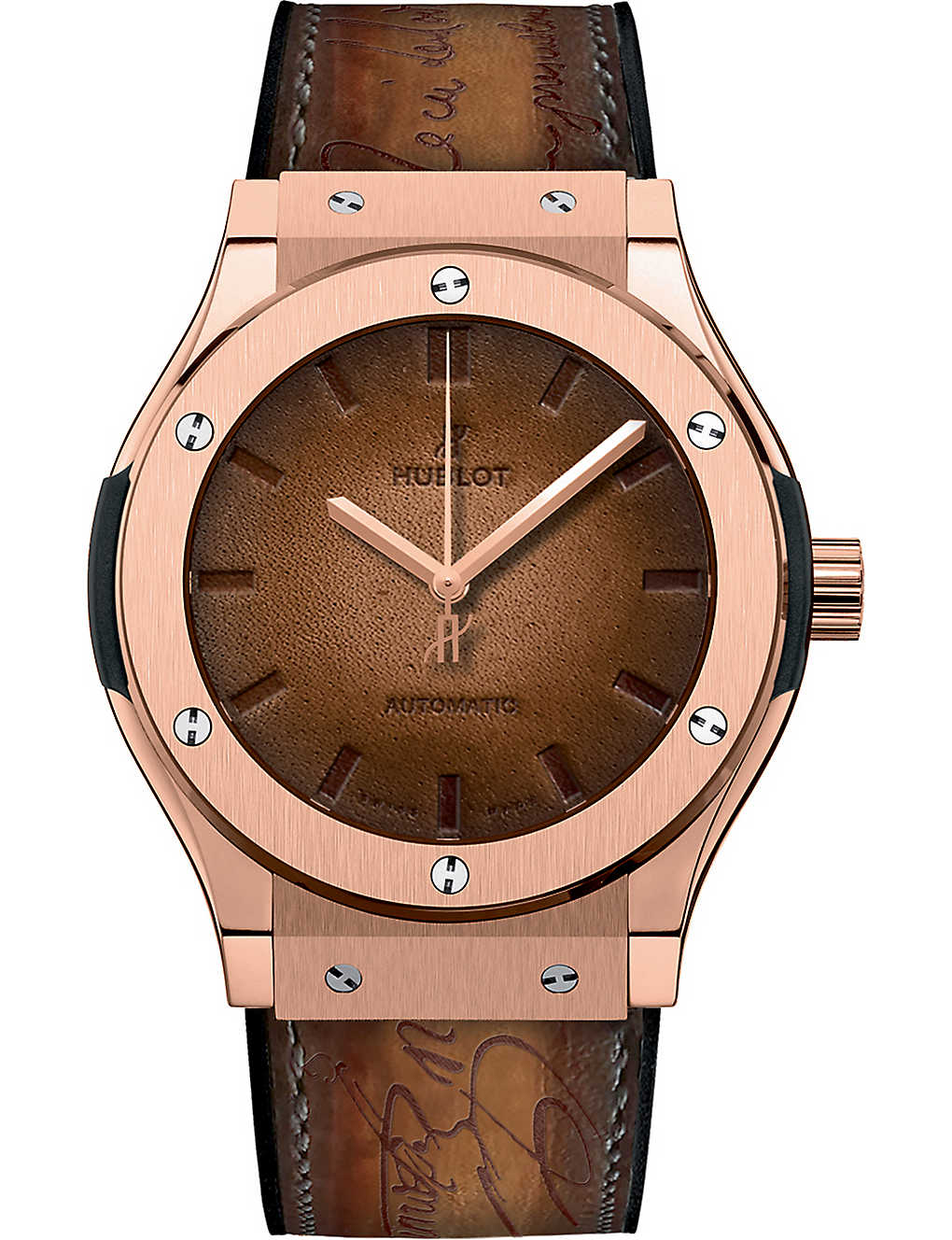 Hublot 511.ox.0500.vr. Ber16 Classic Fusion Berluti 18k King Gold Watch