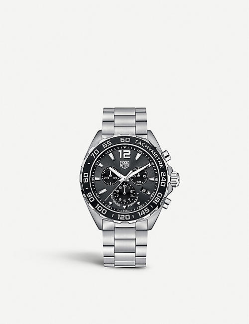 TAG HEUER: CAZ1011.BA0842 Formula 1 stainless steel chronograph watch