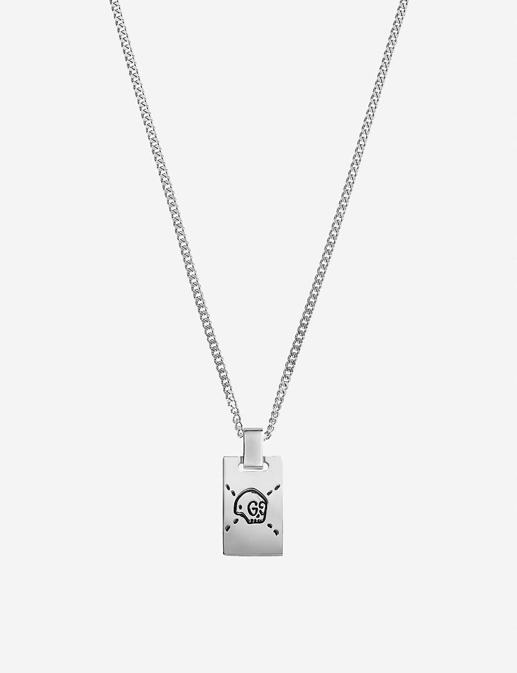 88795c366 GUCCI - GucciGhost sterling silver skull necklace | Selfridges.com