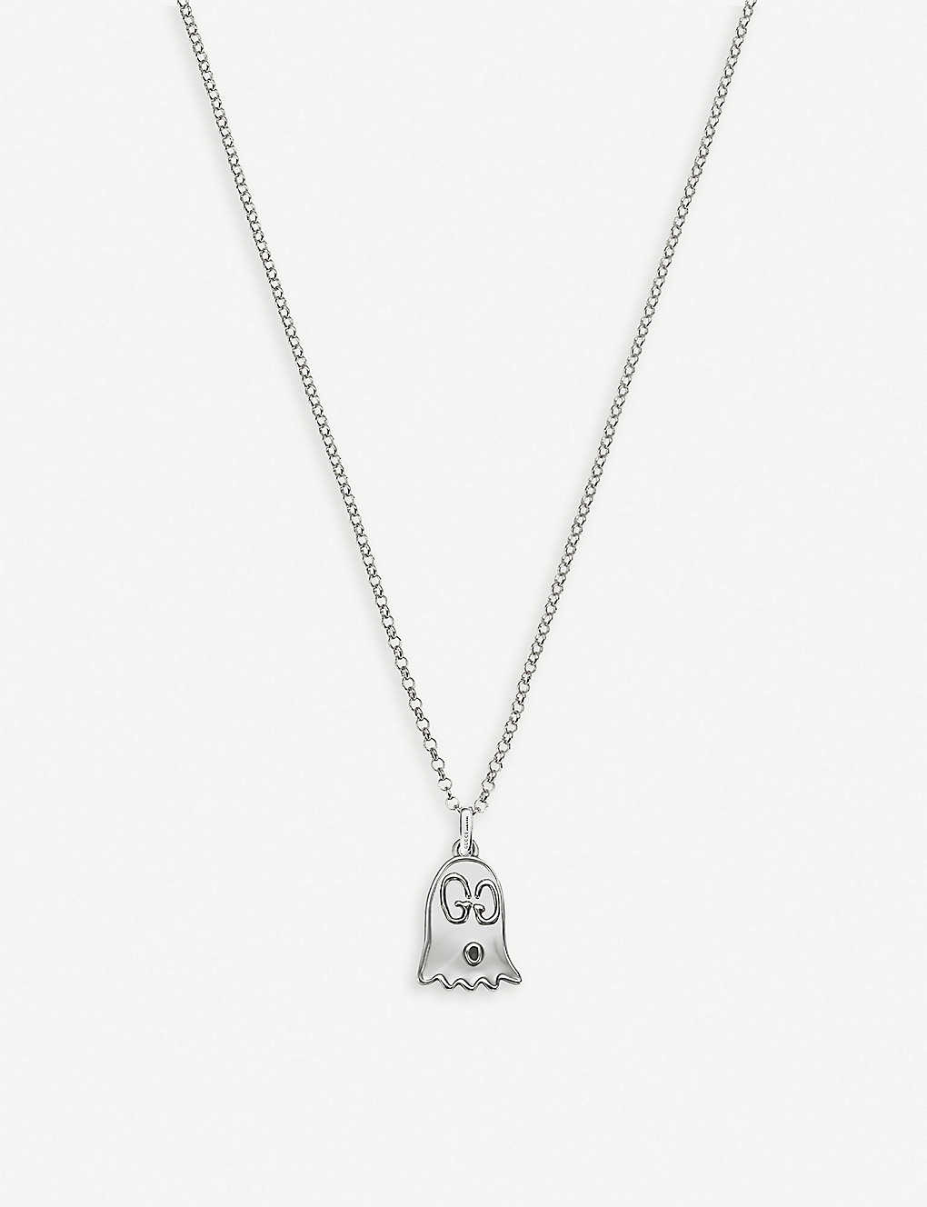 09a8b6e75 GUCCI - GucciGhost sterling silver ghost necklace | Selfridges.com