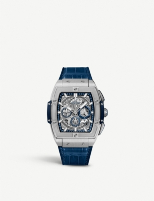 HUBLOT 641.NX.7170.LR Spirit of Big Bang titanium and alligator-leather watch