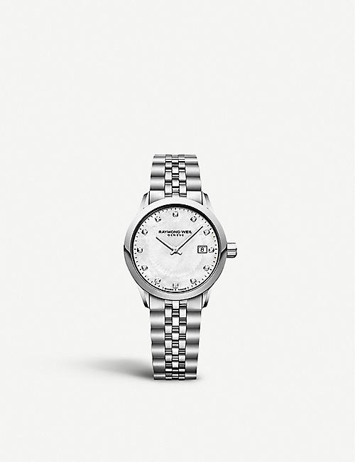 RAYMOND WEIL: 5634ST97081 Freelancer stainless steel and diamond watch