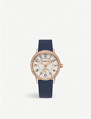 JAEGER-LECOULTRE: Q3578430 Rendez-Vous stainless steel, diamond and leather watch
