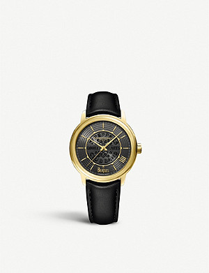 RAYMOND WEIL Maestro 'The Beatles' yellow-gold plated stainless steel and polyurethane watch