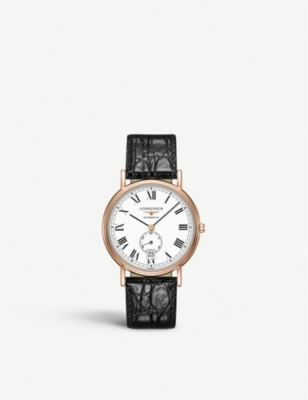 L48051112 Presence Rose Gold Pvd And Leather Watch by Longines