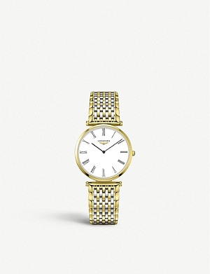 LONGINES L4.709.2.21.7 Le Grande Classique de Longines yellow-gold PVD and stainless steel watch