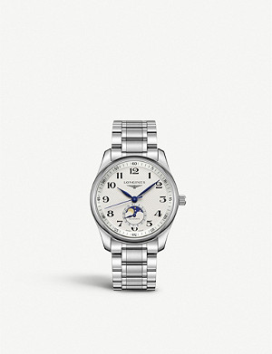 LONGINES L29094786 Master stainless steel moon phase automatic watch