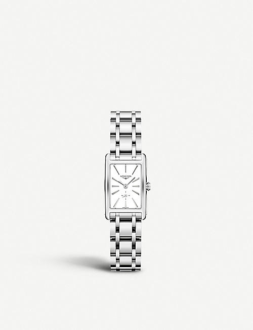 LONGINES: L55124116 DolceVita stainless-steel watch