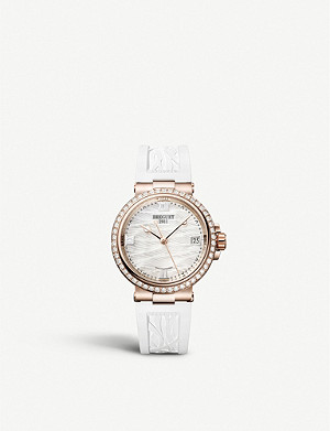 BREGUET 9518BR/52/584/D000 Marine Dame 18ct rose-gold, 1.165ct diamond and mother-of-pearl quartz watch