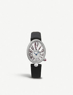 BREGUET 8918BB/58/964/D00D Reine de Naples 18ct white-gold, mother-of-pearl and diamond watch