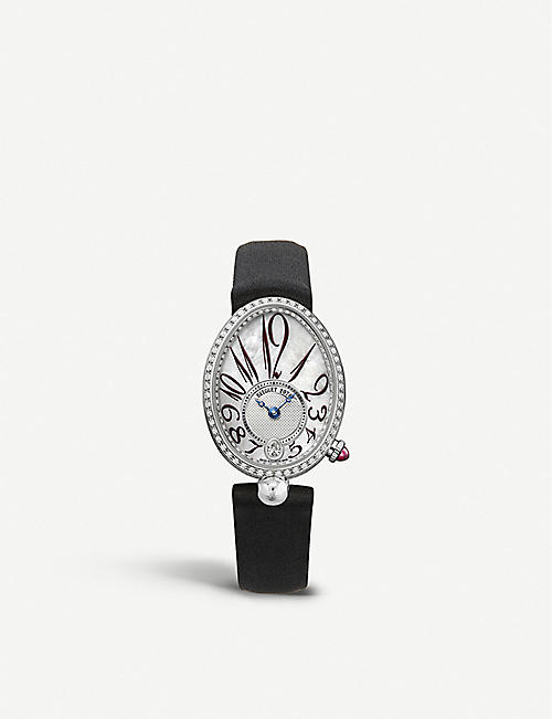 BREGUET: 8918BB/58/964/D00D Reine de Naples 18ct white-gold, mother-of-pearl and diamond watch