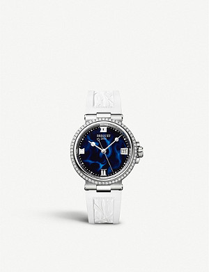 BREGUET 9518BR/52/584/D000 Marine Dame stainless-steel, 0.846ct diamond and lacquered quartz watch