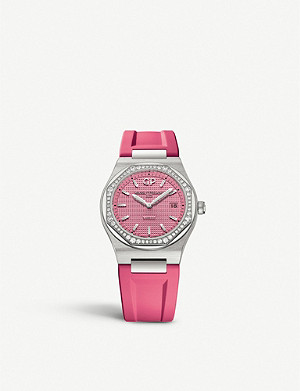 GIRARD-PERREGAUX 80189D11A1822FK9A Laureato steel and diamond-embellished watch