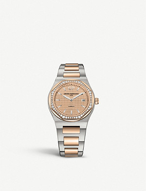 GIRARD-PERREGAUX 80189D56A132-56A Laureato rose gold, stainless steel and diamond watch