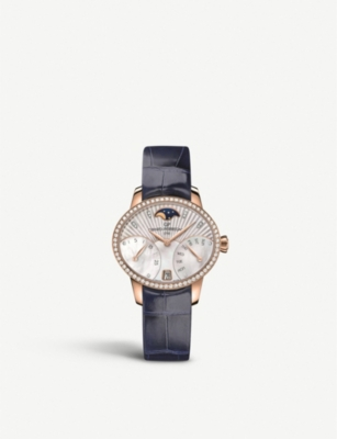 GIRARD-PERREGAUX 80485D52A751-CK4A Cat's Eye Bi-Retro rose-gold, stainless steel, diamond and alligator leather watch