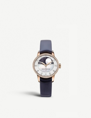 GIRARD-PERREGAUX 80496D52A751-CK4A Cat's Eye Celestial rose gold, stainless steel, alligator leather and diamond watch