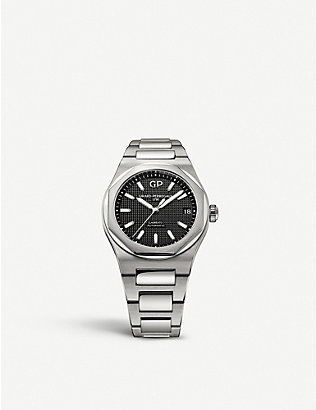 GIRARD-PERREGAUX: 81010-11-634-11A Laureato stainless steel watch