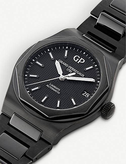 GIRARD-PERREGAUX 81010-32-631-32a Laureato brushed ceramic watch