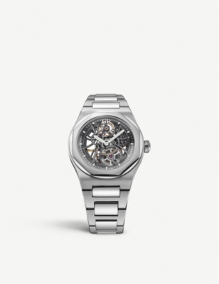 GIRARD-PERREGAUX 810151100111A Laureato Skeleton stainless steel watch