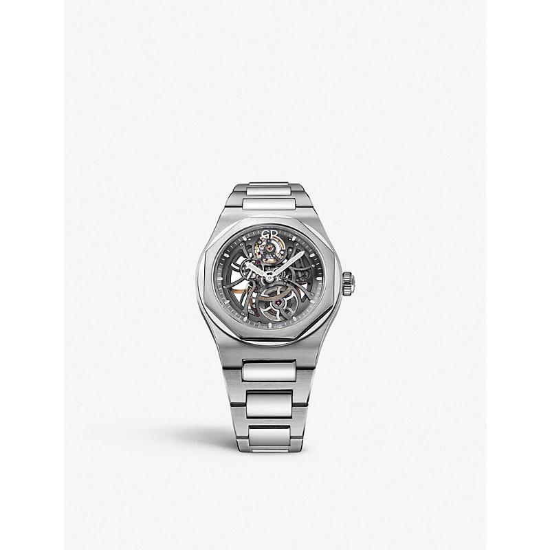 GIRARD-PERREGAUX | 810151100111A Laureato Skeleton Stainless Steel Watch | Goxip